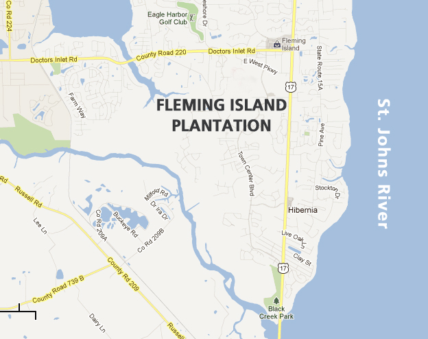 Fleming Island Florida Map Fleming Island Fences